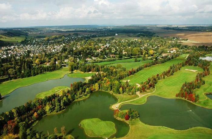 Vu aérienne du Golf Parc Robert Hersant