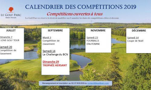 calendrier competitions 2019 2eme partie