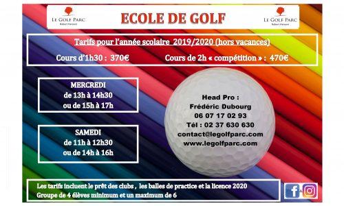 affiche ecole du golf