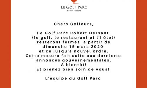 fermeture golf 15 mars 2020